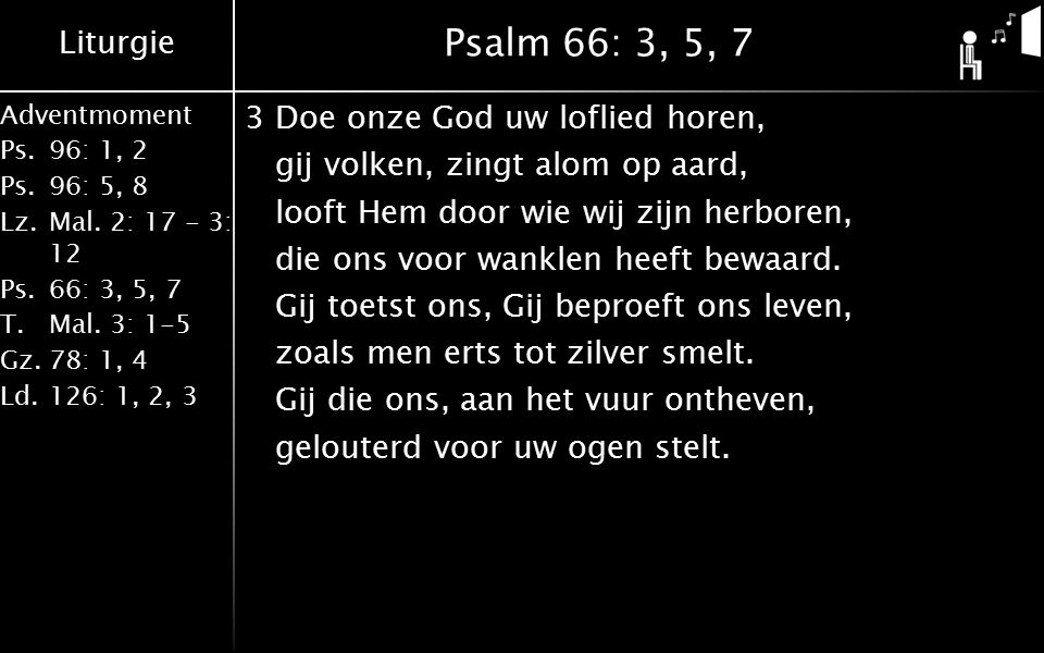 Psalm 66: 3, 5, 7