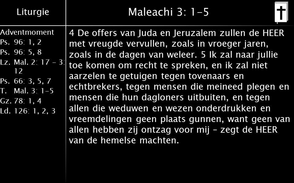 Maleachi 3: 1-5