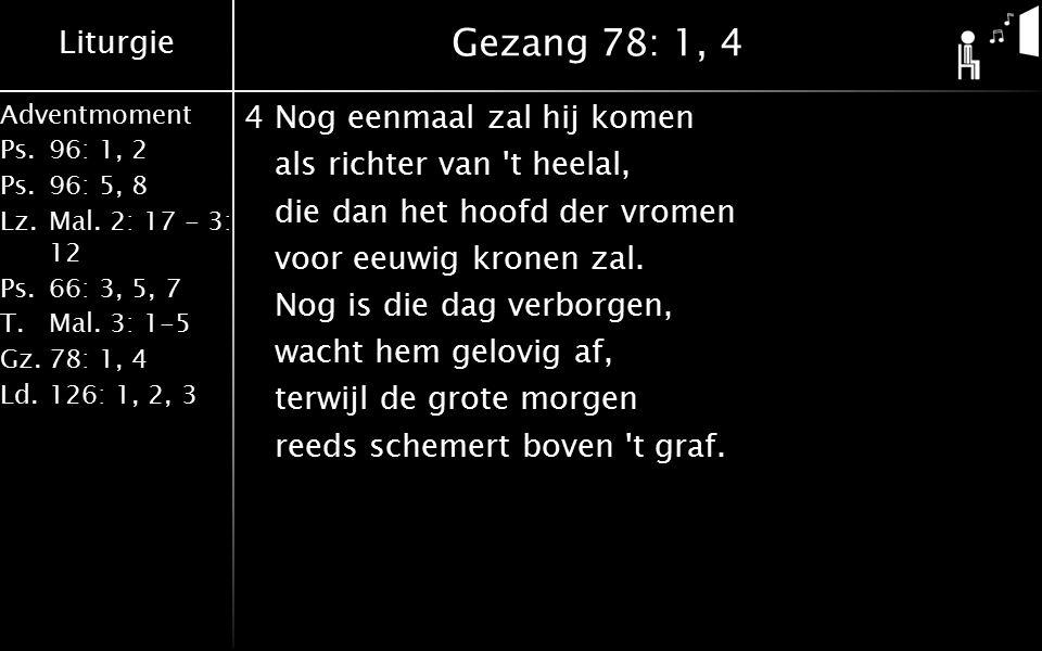 Gezang 78: 1, 4