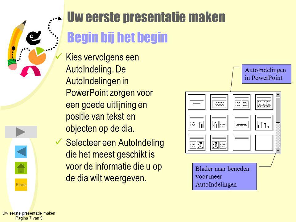 Uw eerste presentatie maken Begin bij het begin