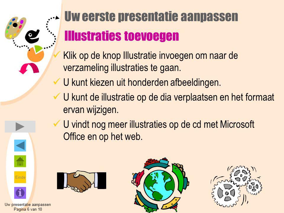 Uw eerste presentatie aanpassen Illustraties toevoegen