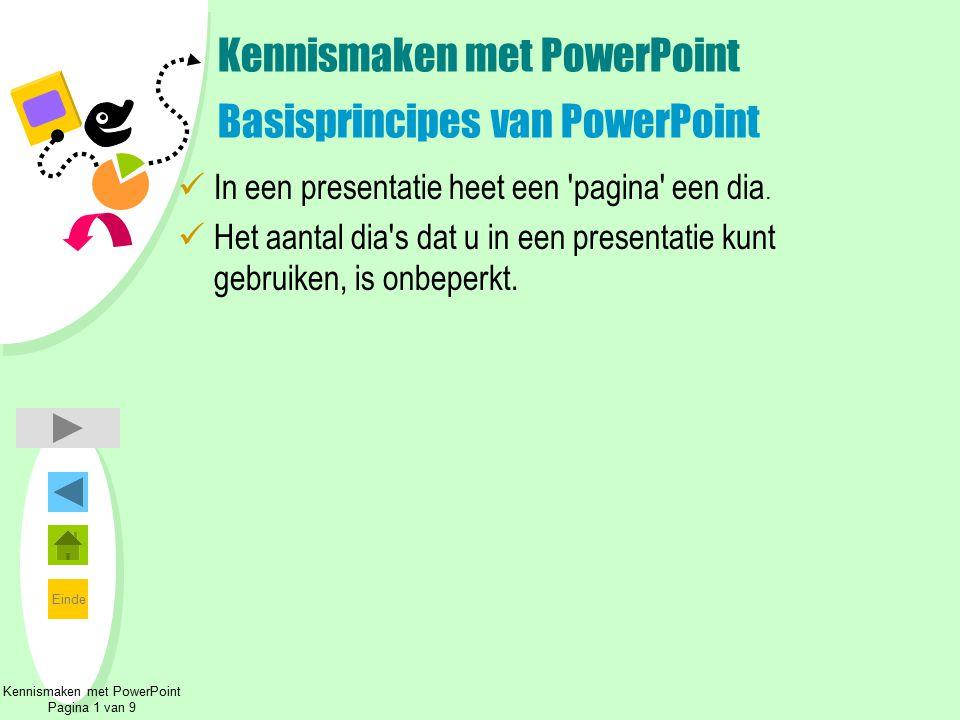 Kennismaken met PowerPoint Basisprincipes van PowerPoint