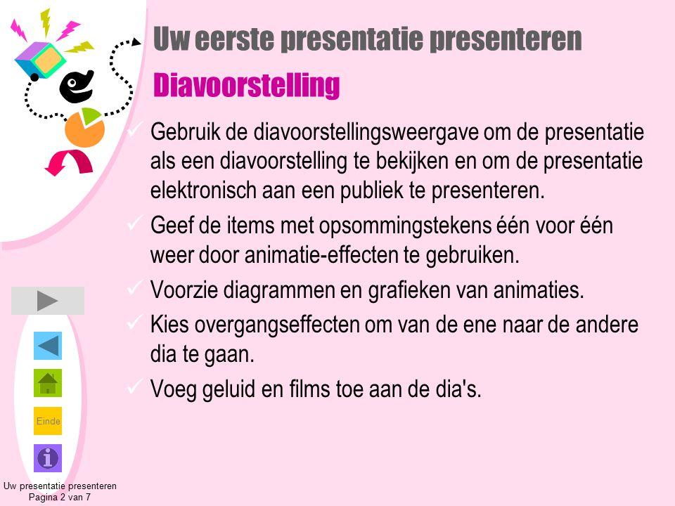 Uw eerste presentatie presenteren Diavoorstelling