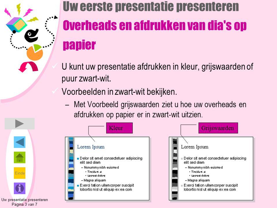 Uw presentatie presenteren Pagina 3 van 7
