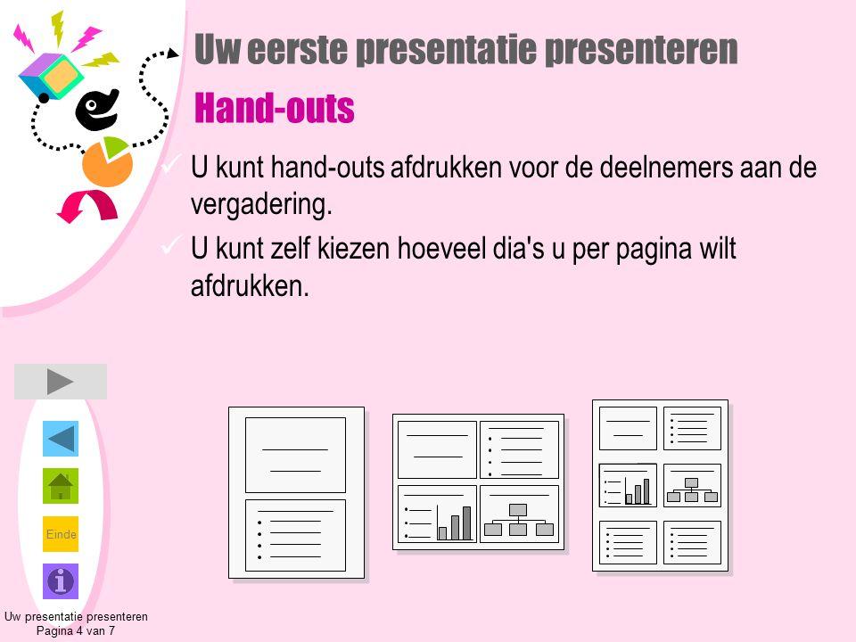 Uw eerste presentatie presenteren Hand-outs