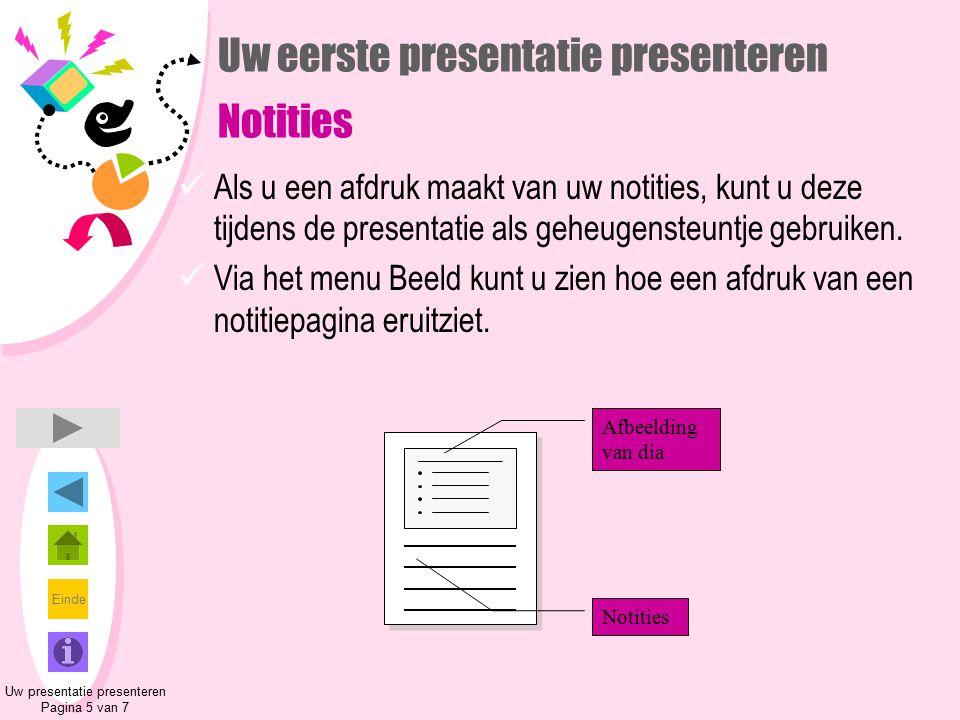 Uw eerste presentatie presenteren Notities