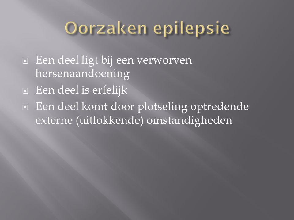Oorzaken epilepsie Een deel ligt bij een verworven hersenaandoening