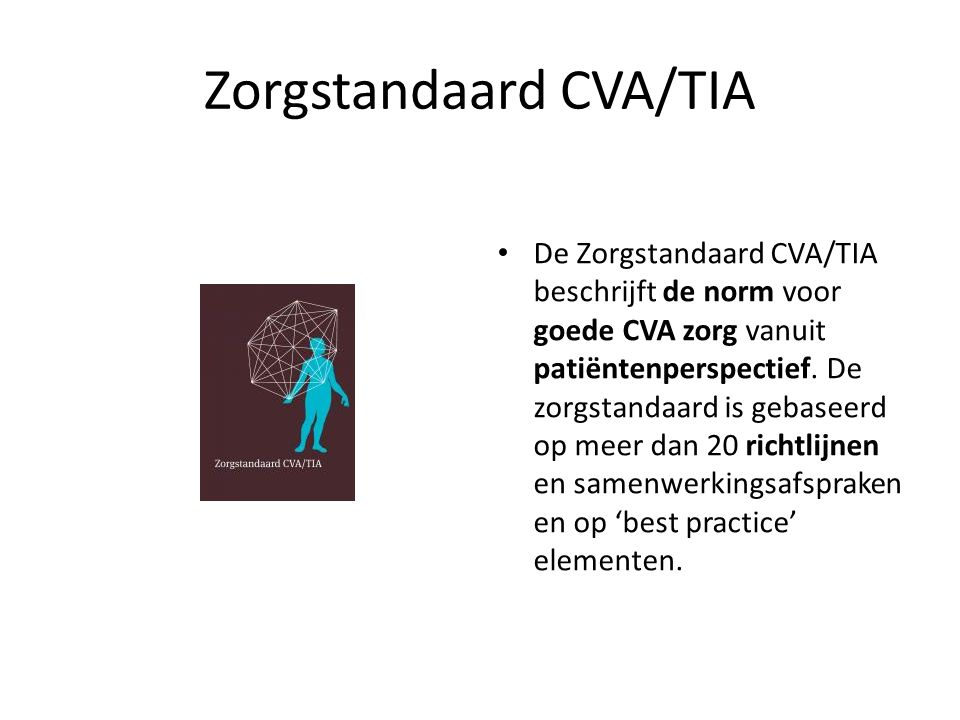 Zorgstandaard CVA/TIA