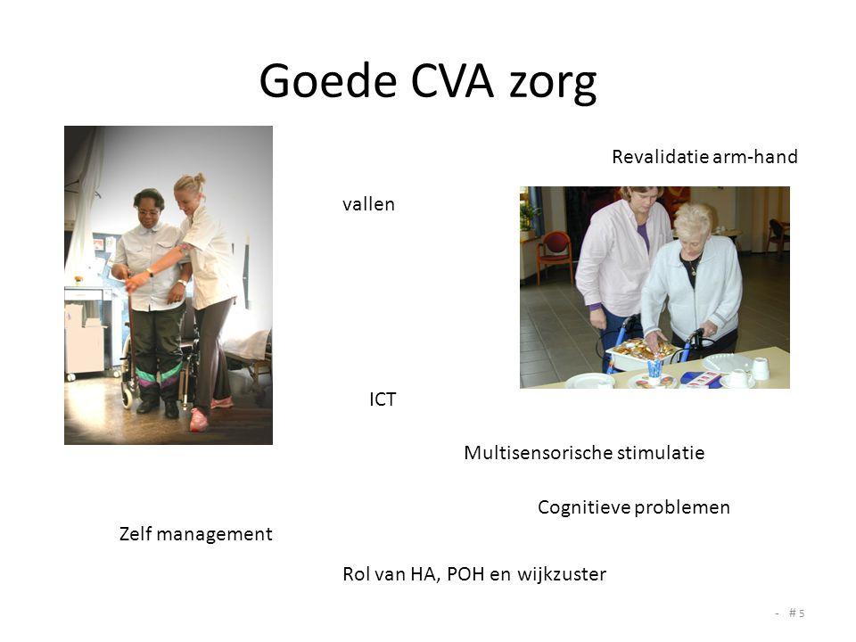 Goede CVA zorg Revalidatie arm-hand vallen ICT