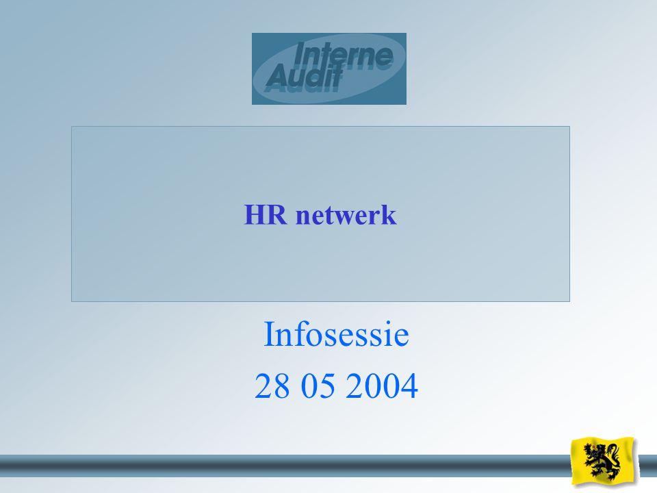HR netwerk Infosessie 28 05 2004