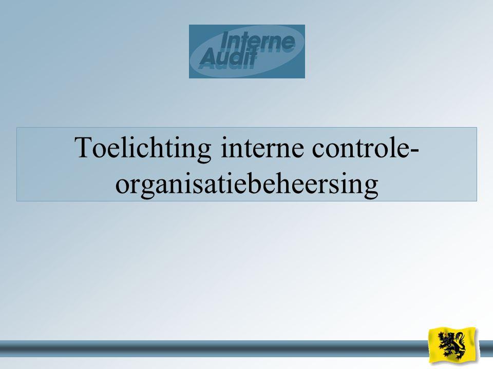 Toelichting interne controle-organisatiebeheersing