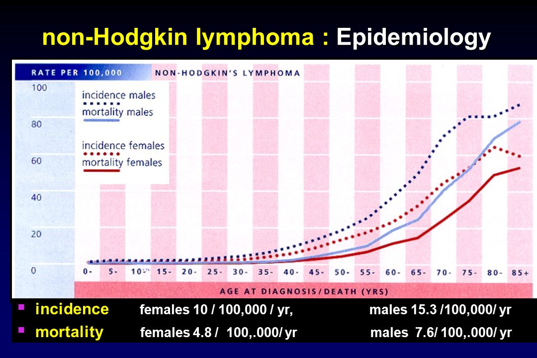 non-Hodgkin lymphoma : Epidemiology