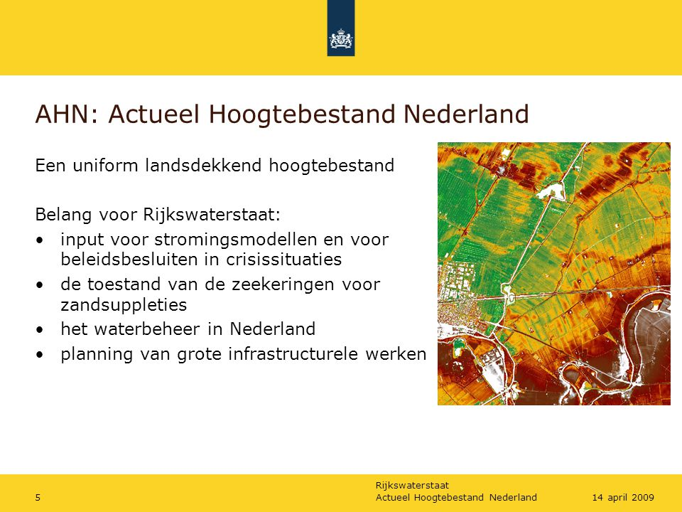 AHN: Actueel Hoogtebestand Nederland
