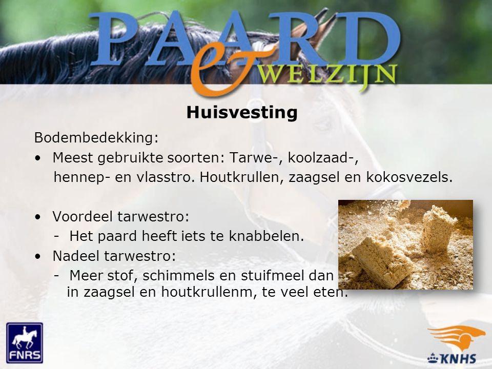 Huisvesting Bodembedekking: