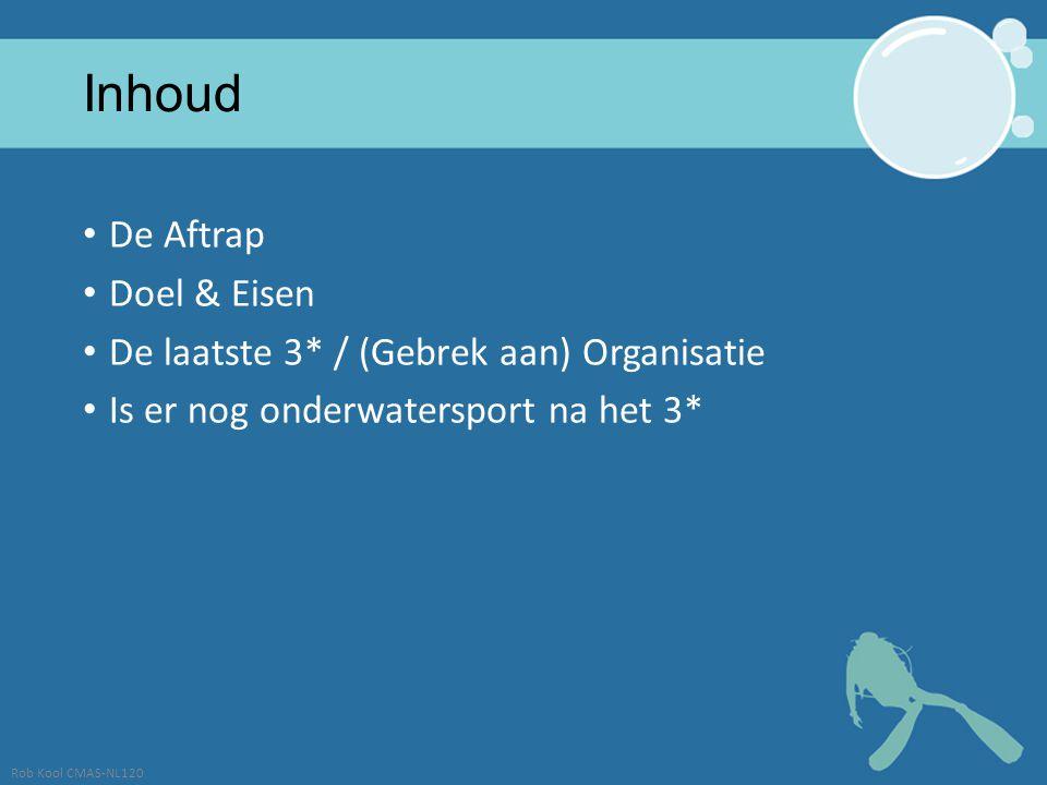 Inhoud De Aftrap Doel & Eisen De laatste 3* / (Gebrek aan) Organisatie