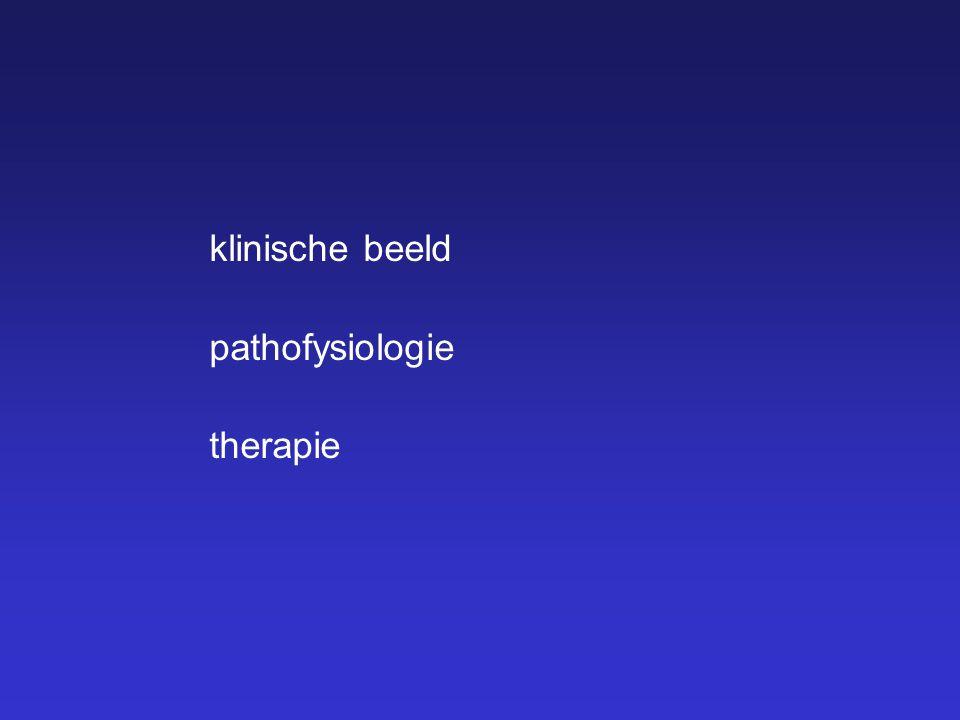 klinische beeld pathofysiologie therapie Ik zal het hebben over