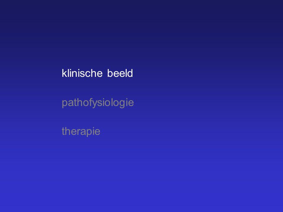 klinische beeld pathofysiologie therapie Het klinische beeld