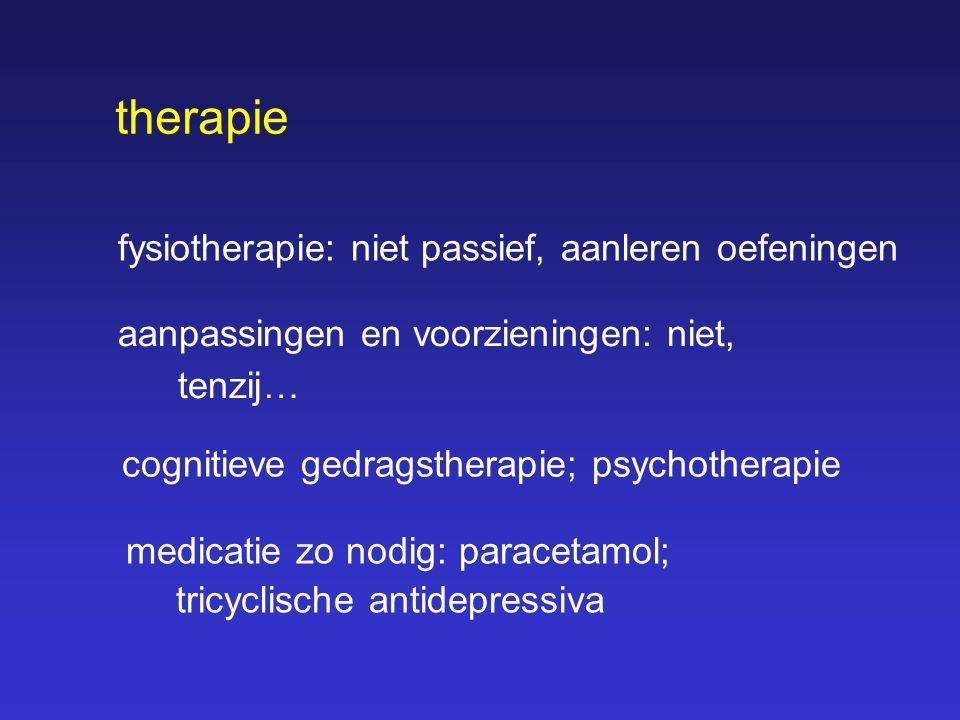therapie fysiotherapie: niet passief, aanleren oefeningen