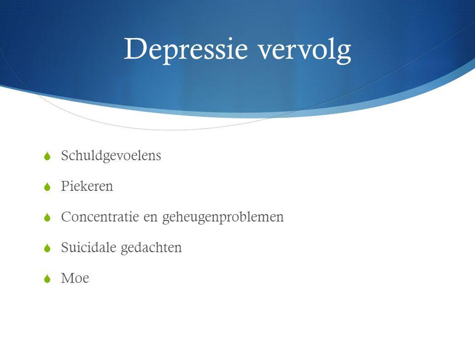 Depressie vervolg Schuldgevoelens Piekeren