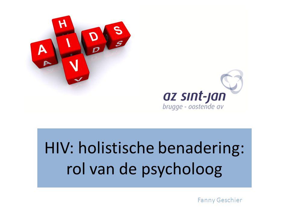 HIV: holistische benadering: rol van de psycholoog