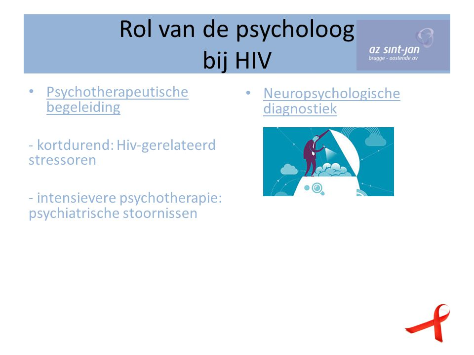 Rol van de psycholoog bij HIV