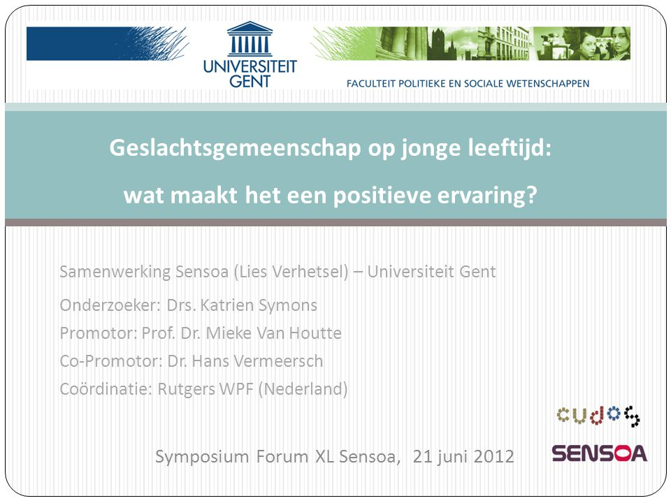 Symposium Forum XL Sensoa, 21 juni 2012