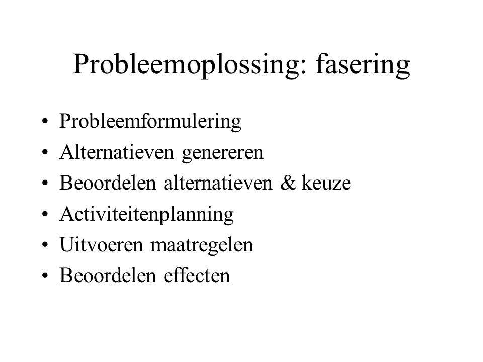 Probleemoplossing: fasering
