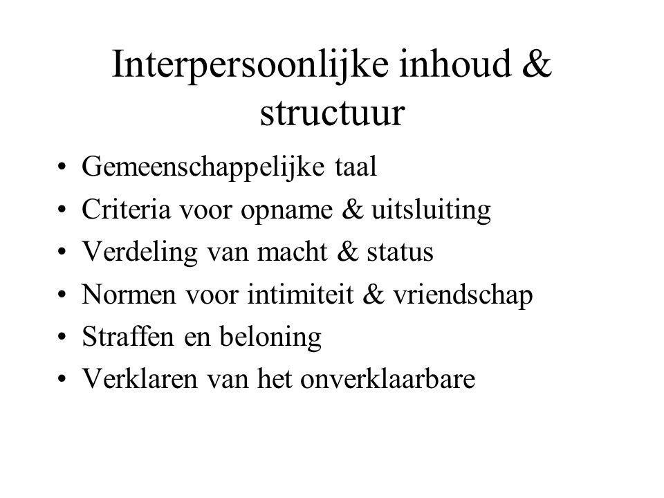 Interpersoonlijke inhoud & structuur