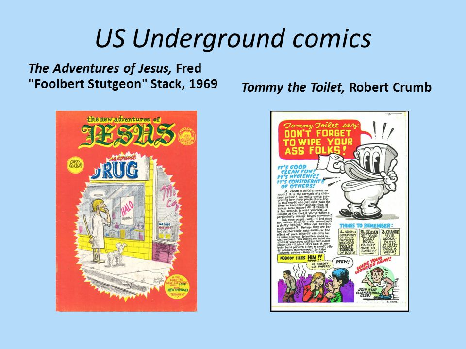 US Underground comics The Adventures of Jesus, Fred Foolbert Stutgeon Stack, 1969.