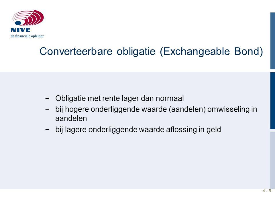 Converteerbare obligatie (Exchangeable Bond)