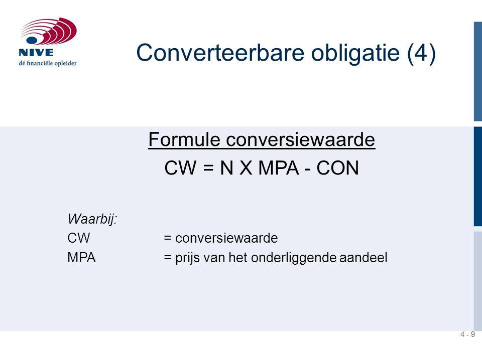 Converteerbare obligatie (4)