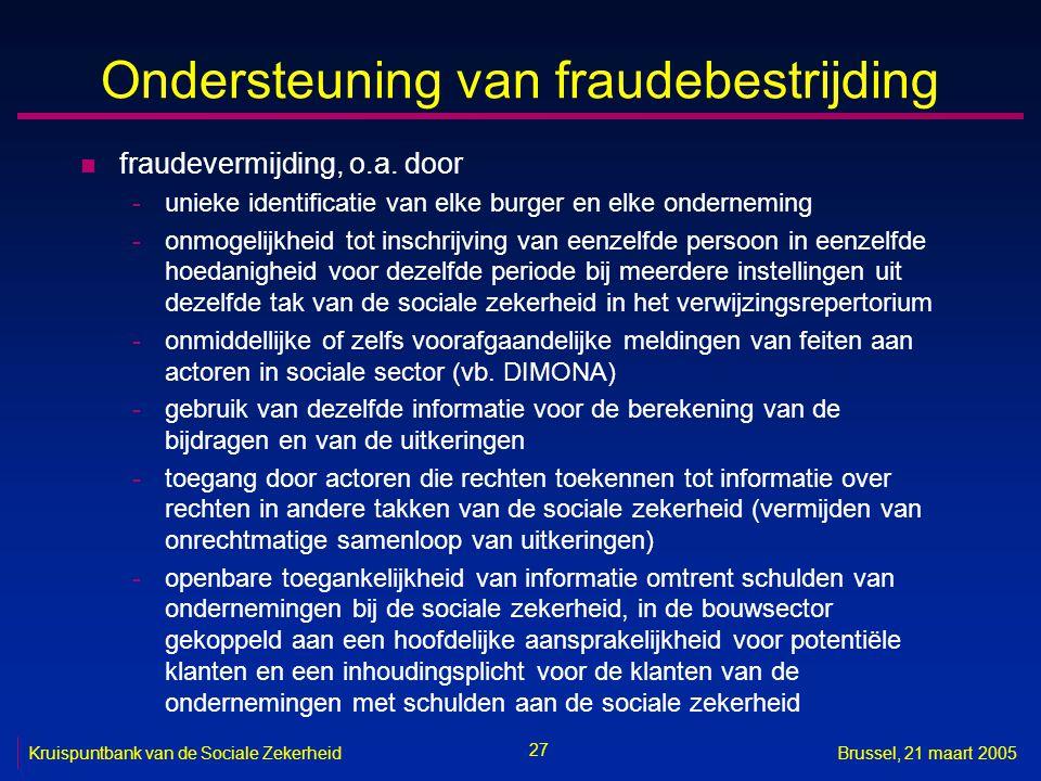 Ondersteuning van fraudebestrijding