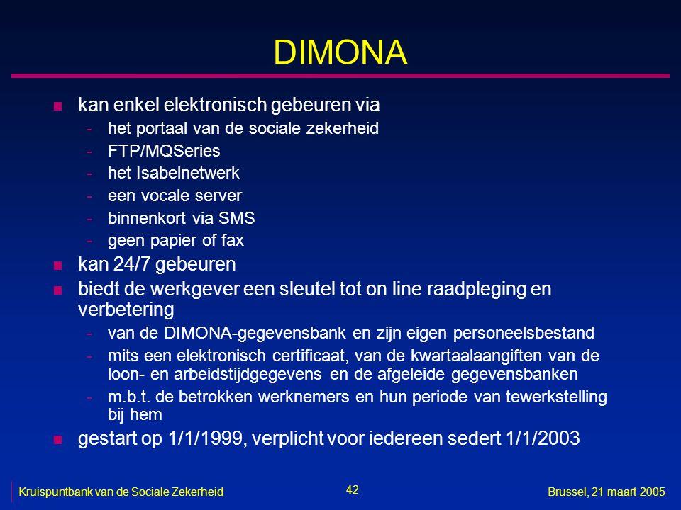 DIMONA kan enkel elektronisch gebeuren via kan 24/7 gebeuren