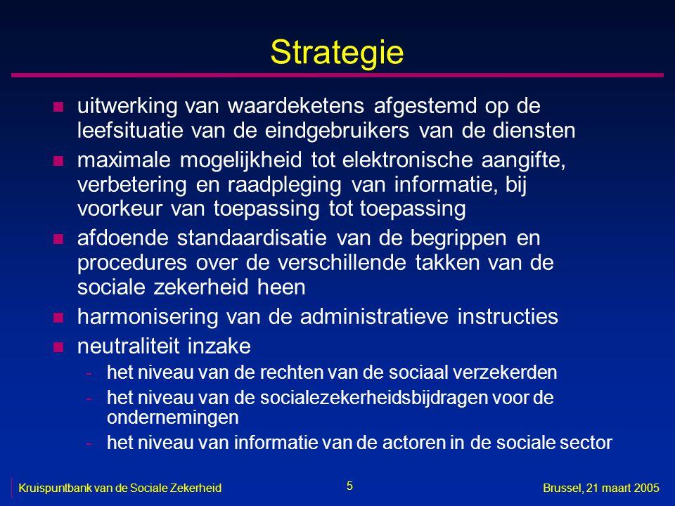 Strategie uitwerking van waardeketens afgestemd op de leefsituatie van de eindgebruikers van de diensten.