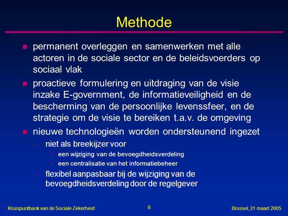 Methode permanent overleggen en samenwerken met alle actoren in de sociale sector en de beleidsvoerders op sociaal vlak.