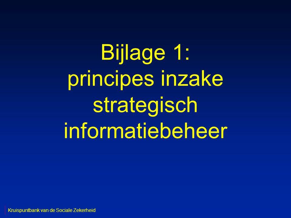 Bijlage 1: principes inzake strategisch informatiebeheer