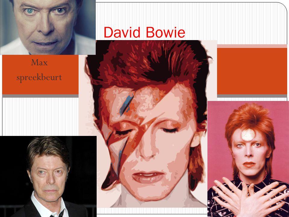David Bowie Max spreekbeurt