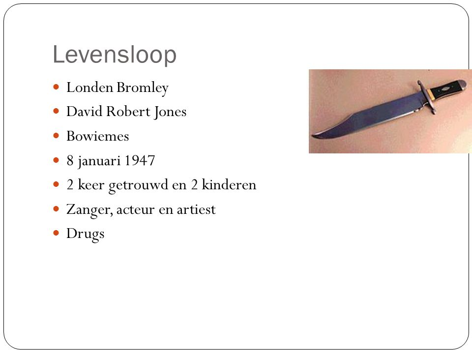 Levensloop Londen Bromley David Robert Jones Bowiemes 8 januari 1947