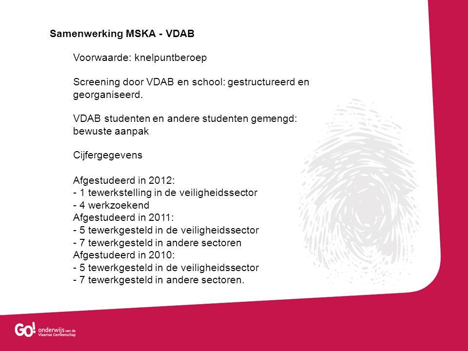 Samenwerking MSKA - VDAB