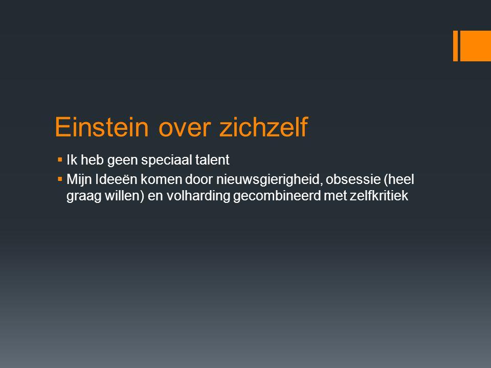 Einstein over zichzelf
