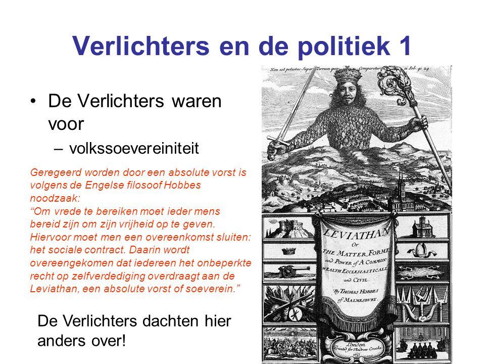 Verlichters en de politiek 1