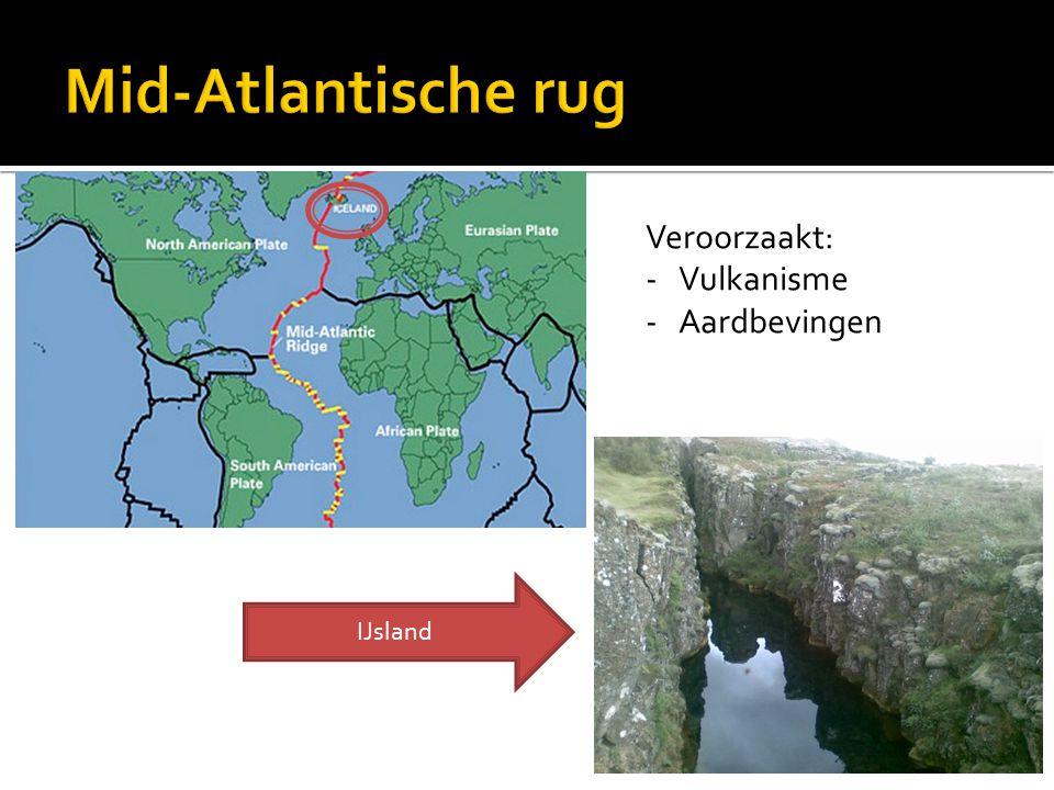 Mid-Atlantische rug Veroorzaakt: Vulkanisme Aardbevingen IJsland