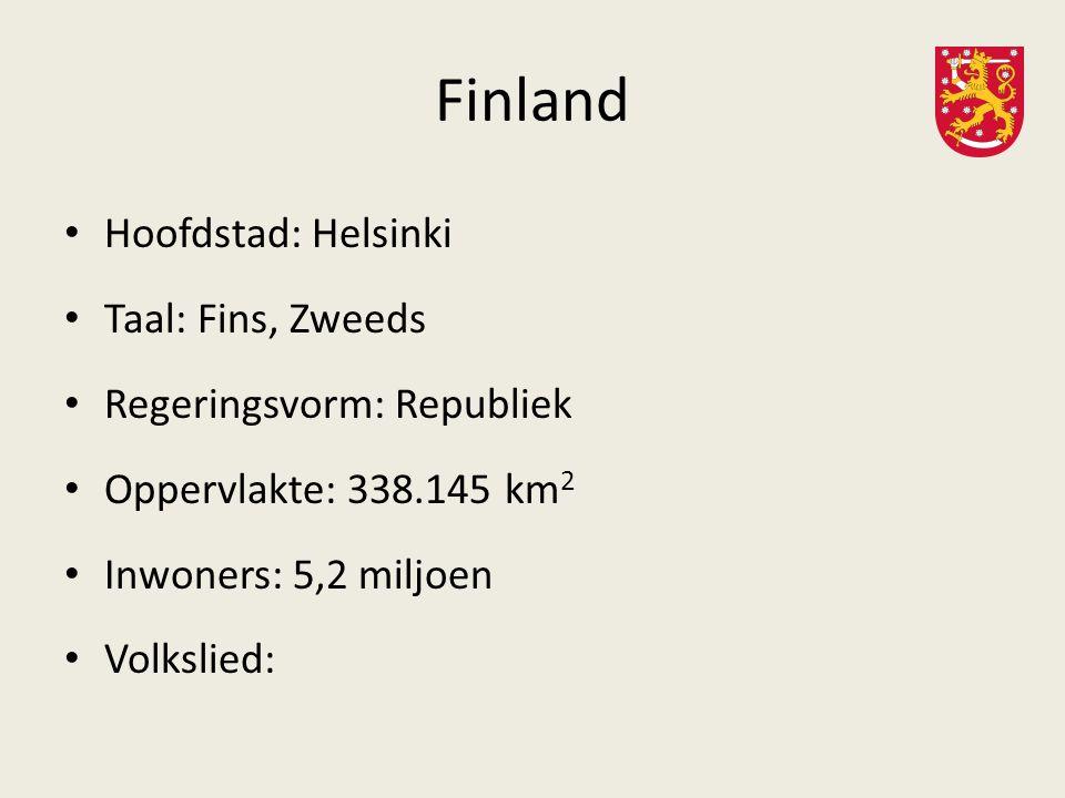 Finland Hoofdstad: Helsinki Taal: Fins, Zweeds