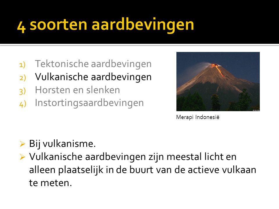 4 soorten aardbevingen Tektonische aardbevingen