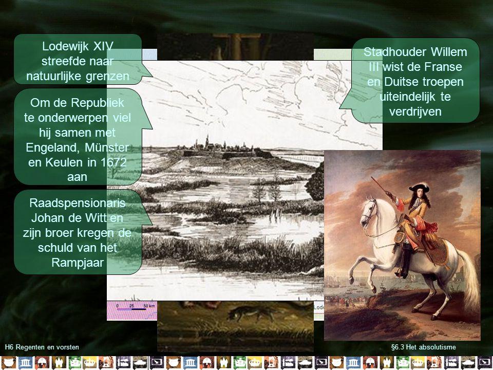 Lodewijk XIV streefde naar natuurlijke grenzen