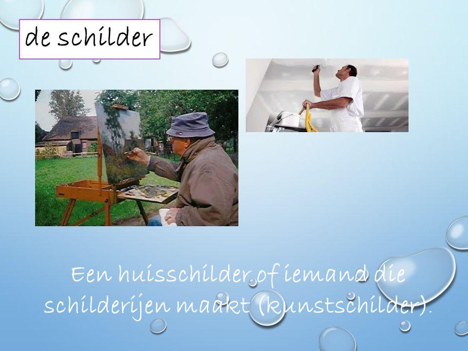 Een huisschilder of iemand die schilderijen maakt (kunstschilder).