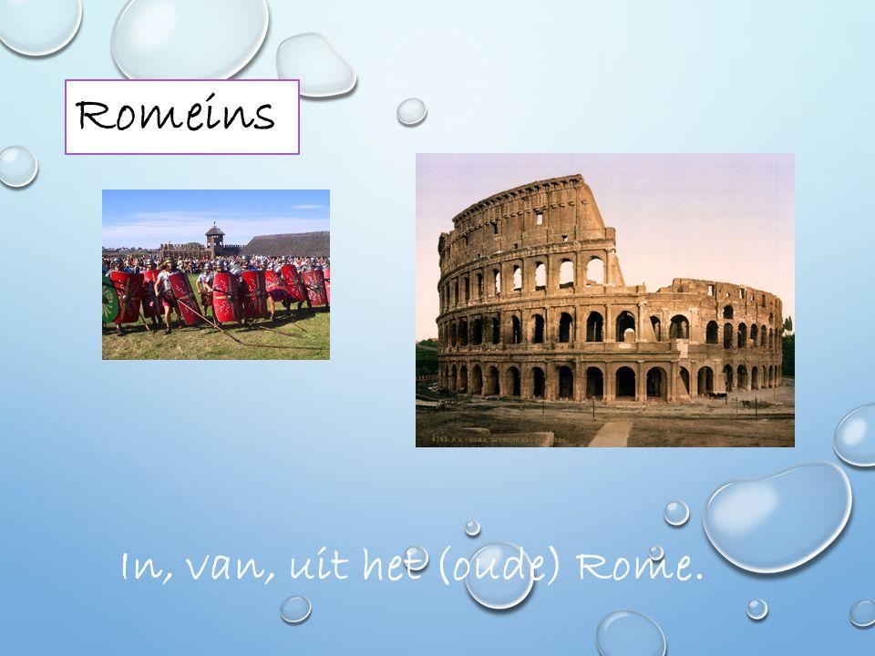 Romeins In, van, uit het (oude) Rome.