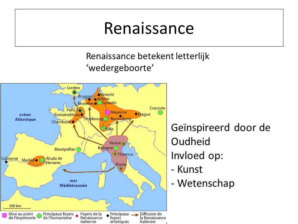 Renaissance Geïnspireerd door de Oudheid Invloed op: - Kunst
