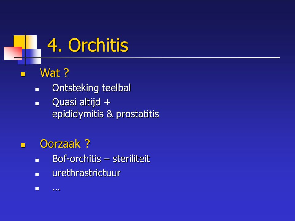 4. Orchitis Wat Oorzaak Ontsteking teelbal