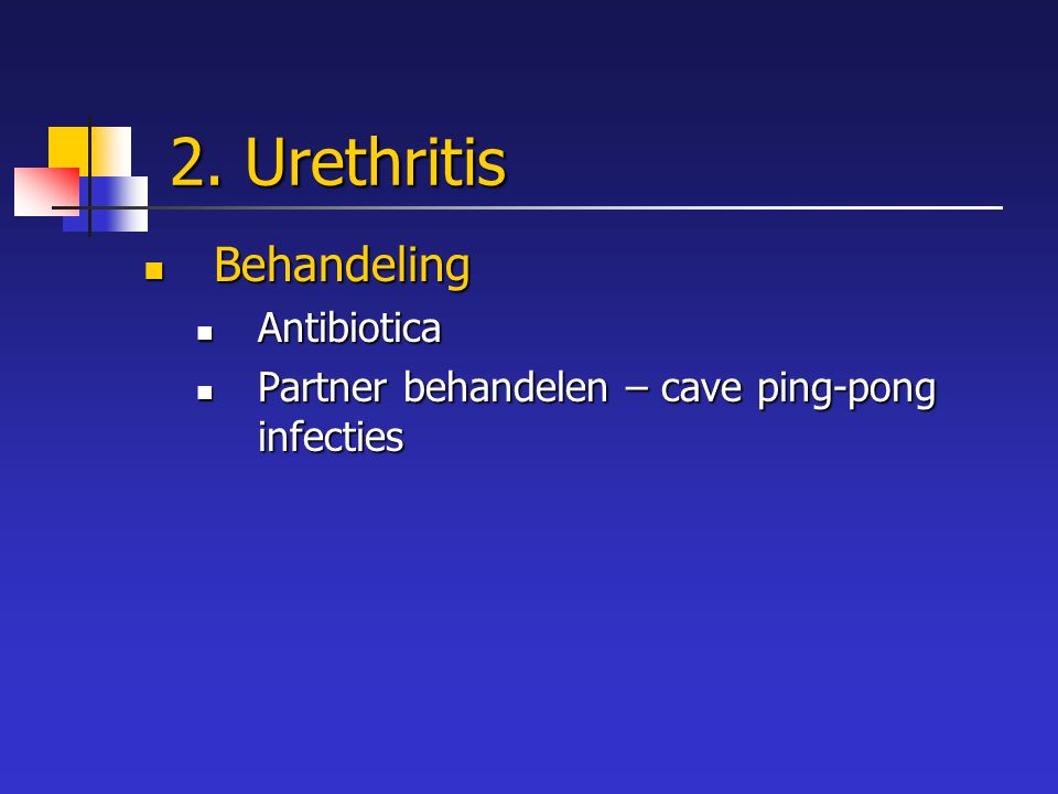 2. Urethritis Behandeling Antibiotica